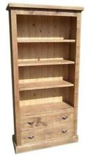 """any size made"" SOLID WOOD BOOKCASE SHELVING STORAGE DRAWER RUSTIC PLANK PINE"