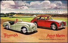 Triumph TR 2 Aston Martin DB 2 Englands Aintree circuit poster 1960s 11 x 17