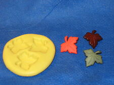 Leaf  Leaves Push Mold Flexible Resin Clay Candy Food Safe Silicone  #658 Soap