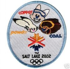 2002 WINTER OLYMPIC MASCOTS COPPER POWDER COAL PATCH