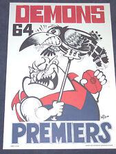 MELBOURNE  FOOTBALL CLUB - WEG POSTER - PREMIERS - 1964 - LIMITED EDITION