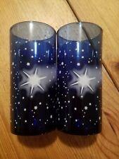 2 Blaue Gläser mit Sternen Motiv