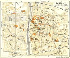 PARMA town/city plan. Italy 1960 old vintage map chart