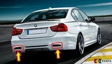 NEW GENUINE BMW 3 SERIES E90 E91 REAR BUMPER PERFORMANCE DIFFUSER TRIMS SET