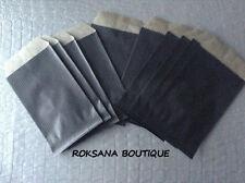 50 Pochettes cadeau sachets papier kraf cadeaux bijoux emballage noir 12 x 20 cm