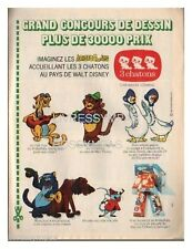 1971 DOCUMENT (ref Ips 1755)  PUB  : BISCUIT 3 CHATONS  LES ARISTOCHATS  1 page