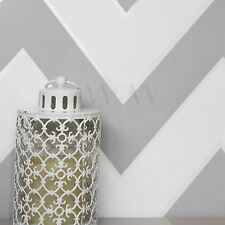 METROPOLIS MICHALSKY CHEVRON WALLPAPER ROLLS WHITE / GREY - AS CREATION 93943-5