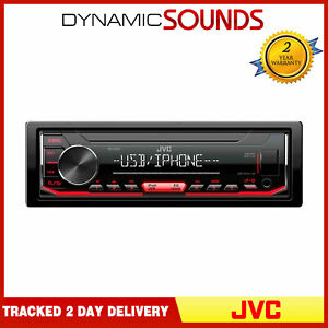 JVC KD-X262 Mechless Digital Media Receiver with Front USB/AUX Input FLAC