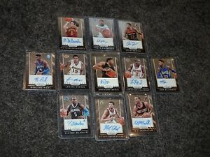 2015-16 Panini Prizm Lot of 11 Auto cards including Anthony Davis Auto (s40)
