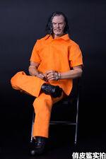 """1:6 Scale Orange Prison uniform suit Set ( shirt + blouse )For 12"""" Male Figure"""