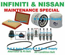 03-07 FX35 G35 QX4 350Z 02 PATHFINDER TUNE UP KITS: SPARK PLUG BELTS & FILTERS
