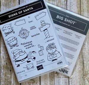 Stampin Up ~ SIGNS OF SANTA stamp set & SANTA'S SIGNPOST Framelits Dies ~ NEW!