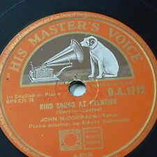 78rpm JOHN McCORMACK bird songs at eventide / bless this house