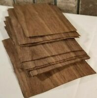 "Walnut Wood Veneer, Raw/Unbacked - Pack of 9 - 4"" x 6"" x 0.042"" Sheets"