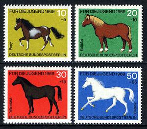 Germany-Berlin 9NB61-9NB64,MNH.Horses:Pony,Work horse,Hotblood,Thoroughbred,1969