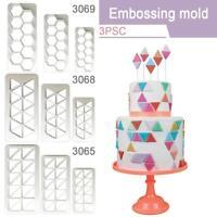 3pcs Fondant Cake Mold Cutter Icing Tool Sugar Decorating Mould DIY Baking Tools