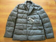 NWT $995 RALPH LAUREN BLACK LABEL LEATHER TRIM  DOWN JACKET  SZ L, MADE IN ITALY