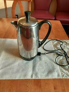 Vintage Farberware Superfast 12 cup Electric Coffee Percolator Model 142 - USA