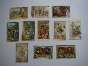 11 x Vintage Liebig Advertising Cards