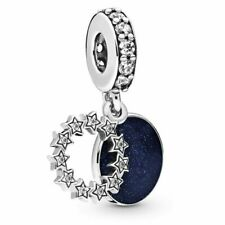 New PANDORA Blue Inspirational Stars Pendant Charm Silver S925 ALE 798433C01