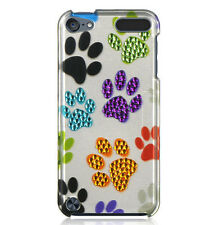 for iPod Touch 5th / 6th Gen - Hard Spotted Diamond Case Cover Colorful Dog Paws