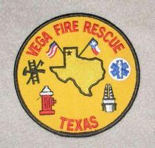 "Vega Fire Rescue Patch - Texas - 4"" x 4"""