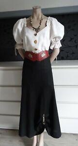 German Austrian Linen Trachten Skirt Outfit + Belt 6