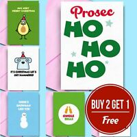 Funny Christmas Cards 🎅 Silly Puns Rude Xmas Cards Friends Adult Jokes