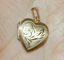 10K Yellow Gold Heart Charm Pendant Necklace Opens Locket Love 1.6 Gram AAJ