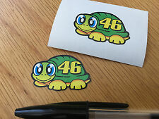 "Rossi ""THE DOCTOR"" Turtle Visor Sticker 2013 (Pair)"