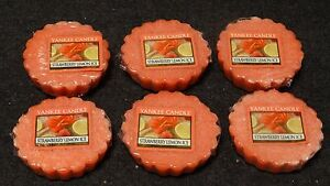Yankee Candle Set of 6 Strawberry Lemon Ice Wax Melt Tarts New 1351674