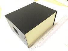 "Black DIY Electronic Metal Project box Instrument Enclosure Case 5.7""x7""x3.5"""