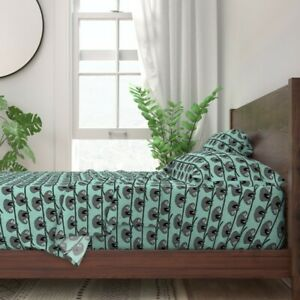 Hanging Sloths Animal Rainforest Nature 100% Cotton Sateen Sheet Set by Roostery