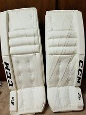 CCM E 3.9 32+1 Brand New All White Senior Goalie Leg Pads hockey