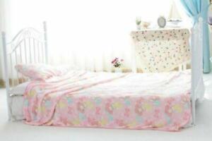 Kawaii Pink Flannel Blanket Throw Soft Bedding My Melody Pattern Plush Rug UK