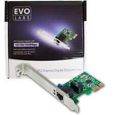 EVO Labs PCI-Express Gigabit Netzwerkkarte Desktop LAN Ethernet