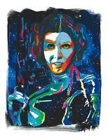Princess Leia Carrie Fisher Star Wars Alderaan Print Poster Wall Art 8.5x11