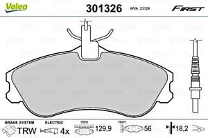 Front Disc Brake Pad Set VALEO Fits PEUGEOT CITROEN 306 Convertible 425155