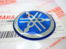 YAMAHA R1 R6 R7 XJR YZF Tank Emblem Badge Gel Decal Sticker 40mm Diameter BLUE
