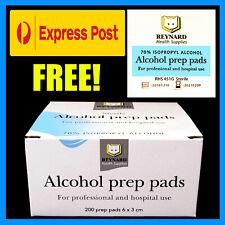 Reynard Alcohol Wipes / Sterile 70% Medical Isopropyl Skin Swabs, 25 - 1200 Qty