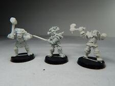 3 Vintage Citadel/Warhammer Oldhammer Metal Chaos Marauder Warriors. 1987 1988