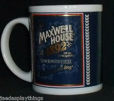 """Maxwell House Coffee Mug Cup 3.5"""" Slow Roasted Advertising Vtg"""