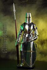 Armure chevalier medievale lance 193cm en argent !