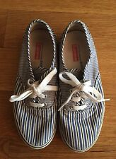 SUPREME CDG VANS SS12 Blue Striped Authentic Low Sneakers Size 5.5 Rare SOLD OUT