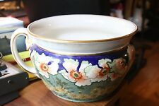 ANTIQUE  DOULTON BURSLEM CHAMBER POT GORGEOUS VIBRANT COLORS LOOK!