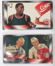 1996 Score Board Coca-Cola Sprint Phone Cards $2 #2 Isiah Thomas + one free card