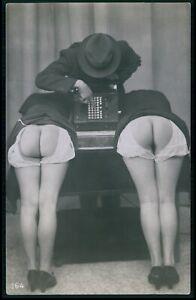 Biederer French nude woman big butt cash registrer original c1925 photo postcard