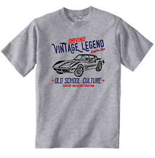 Vintage Voiture Américaine Chevrolet Corvette C3-NEW T-shirt en coton