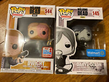 The Walking Dead Funko Pop Daryl Dixon Dwight Lot Of 2 Figures Exclusive