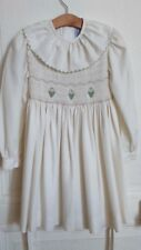 "ROBE HIVER BLANCHE A SMOCK "" JACADI ""   6 ANS IDEE CADEAU !"